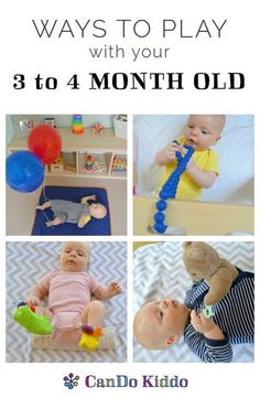 Baby Play for 3 to 4 month olds. http://CanDoKiddo.com