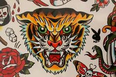 tiger face tattoo - Google Search