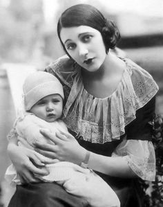 Barbara La Marr and her son, Marvin (aka Don Gallery).  Later adopted by actress Zasu Pitts.
