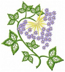 Jacobean Floral 5 - 5x7 | Floral - Flowers | Machine Embroidery Designs | SWAKembroidery.com Young at Heart Embroidery