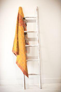 PEACHY KEEN Kantha Quilt, Quilts, Ladder Decor, Vintage, Home Decor, Decoration Home, Room Decor, Quilt Sets, Vintage Comics