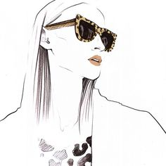 Fashion illustration // Alena Lavdovskaya