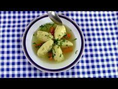 Supa de pui cu galuste din gris (reteta simpla)   Gina Bradea - YouTube Easy Bun, Romanian Food, Light Recipes, Potato Salad, Gin, Food And Drink, Cooking, Breakfast, Ethnic Recipes