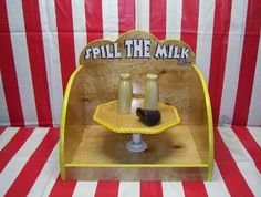 Spill the Milk. One of the many games at Eggstravaganza
