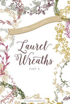 Free Laurel Wreath Graphics - Part 2 - Designs By Miss Mandee
