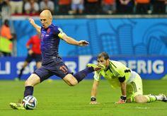 Voetbal blijft altijd leuk, met favoriete speler Robben