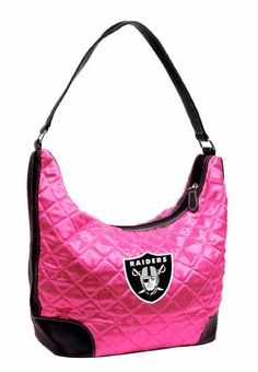 NFL Oakland Raiders Pink Quilted Hobo $33.59 ships free