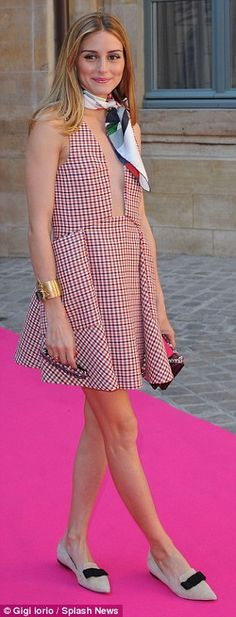 Pins on parade: Alice Eve and Olivia Palermo put on leggy displays in Paris as they walke...