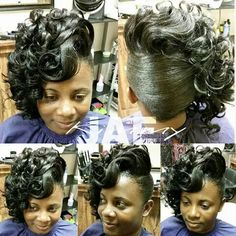 092714 Church Hairstyles, Black Hair Updo Hairstyles, My Hairstyle, Black Girls Hairstyles, Weave Hairstyles, Pretty Hairstyles, Wedding Hairstyles, Updo Styles, Curly Hair Styles