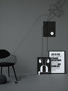 Lotta Agaton: Beckmans Akademi styling black grey monochrome minimal