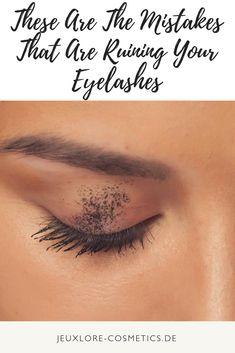 Mistakes That Are Ruining Your Eyelashes Beauty Dupes, Diy Beauty, Beauty Skin, Beauty Hacks, Beauty Blogs, Beauty Trends, Eyelashes Makeup, Fake Lashes, Mascara