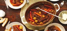 Italian-Style Braised Beef -- This can be cooked in a slow cooker or dutch oven Slow Cooker Recipes, Beef Recipes, Cooking Recipes, Healthy Recipes, Cooking Chef, Cooking Ideas, Braised Beef Slow Cooker, Ricardo Recipe, Beef Dishes
