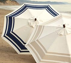 Beach umbrellas, so pretty! I would have those colors and simple pattern everywhere in my home if I could.