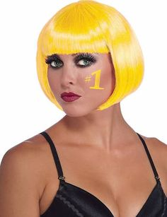 yellow pageboy wig - Google Search