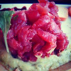 Mmmmm, qué ganas de un #tartar de #atún! #gordacos #placeresdelavida #ouhyeah