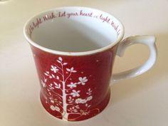 SOLD  Starbucks 'Wish. Let Your Heart Be Light' Red Christmas Mug 2009 #Starbucks