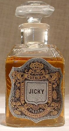 Jicky Vintage Guerlain 1886 love old perfume bottles and their labels My site: http://www.designyourownperfume.co.uk
