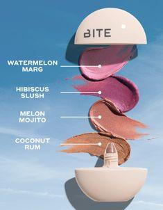 Natural Everyday Makeup, Natural Makeup Looks, Makeup News, Bite Beauty, Coconut Rum, Cream Blush, Whipped Cream, Hibiscus, Watermelon