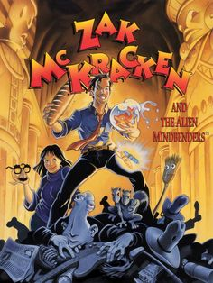 Zak McKracken and the Alien Mindbenders DOS box cover art - MobyGames Classic Video Games, Retro Video Games, Video Game Art, Retro Games, Games Box, Old Games, Cover Art, Arcade, Lucas Arts