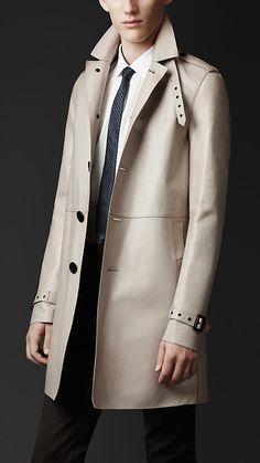 Nappa Leather Trench Coat | Burberry