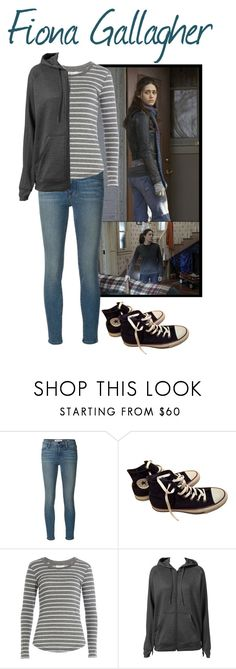 """""""Fiona Gallagher from Shameless"""" by havenrose ❤ liked on Polyvore featuring Frame, Converse, Velvet and adidas"""