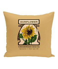 Gold 'Sunflower' Throw Pillow