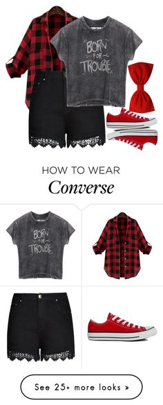 """Untitled #911"" by xxxmakeawish on Polyvore featuring Converse and City Chic"