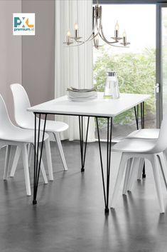"""Tento [en.casa] Jedálenský stôl """"Kiel"""" HTAT-9209 bol inšpirovaný najnovšími trendmi je vynikajúcou voľbou do jedálne, kuchyne, jedálenského kúta alebo kuchyne. Skvelý dizajn, ktorý v sebe spája drevo a kov, je vhodný aj ako vybavenie reštaurácií alebo kaviarní. Jedálenský stôl o rozmeroch doksy stola 120 x 70 cm je určený pre 4 osoby."""