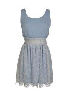 Lace And Glitter Dress in light blue for graduation?