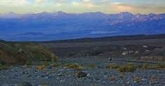 Photograph by Stuart Litoff.  Dusk near Zabriski Point in Death Valley National Park in California.