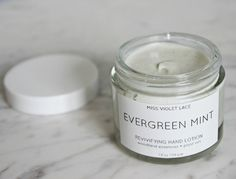 Evergreen Mint Hand Lotion  Woodland Hand Cream  by MissVioletLace