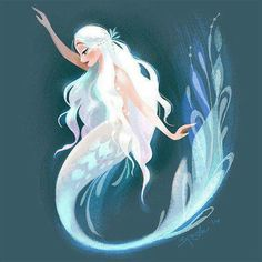 Siren Print Inspired by The Little Mermaid ballet, this is a print reproduction of a digital… Mermaid Artwork, Mermaid Drawings, Art Drawings, Mermaid Paintings, Fish Artwork, Fantasy Kunst, Fantasy Art, Fantasy Makeup, Illustration Mode