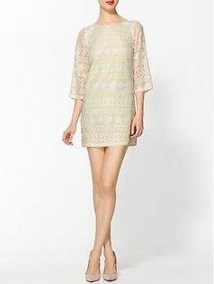 Ark & Co. Mint Lace Shift | Piperlime -- great 60s vibe, fun way to show a little leg at a wedding or party.