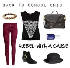 edgy back to school outfit #backtoschool More