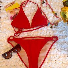 ☀️RED HOT Bikinis, Top & Bottom ☀️If it's Red it's always HOT‼️♨️ Lips Swim Bikinis