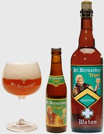 St.Bernardus Tripel Echt een super heerlijk biertje, een van mijn favo's. Waarschijnlijk ook echt iets voor vrouwen aangezien het een zoet-moutige ale is. Alcoholpercentage is 8% met een hoge gisting. Dit bier is met name erg lekker als je hem een tijdje in het donker laat staan. Het gaat dan lekker hergisten en geeft een nog vollere, beetje oudere smaak zeg maar. Zit nog een klein bittertje in. De brouwerij Sint Bernardus zit in Watou.