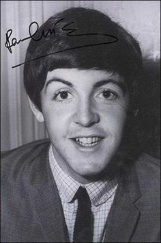 Paul with autograph