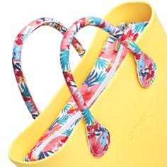 Kit - Hawaiian - Inner Canvas Zip Bag with Matching Short Canvas Handles - a Mini O bag Accessory