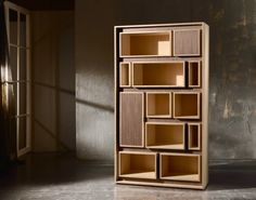 Showroom: 200 N. Hamilton N Ct, 103 # hpmkt Shelving Design, Bookshelf Design, Bookshelves, Simple Bookshelf, Bookcase, Wood Furniture, Furniture Design, Office Cabinets, Office Cabinet Design