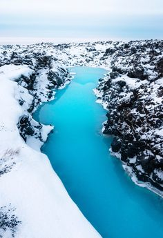 Blue meets white around the Blue Lagoon, Iceland