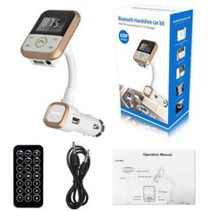 Wireless Bluetooth LCD FM Transmitter Modulator Car Kit MP3 Player SD USB Remote in Consumer Electronics, Portable Audio & Headphones, iPod, Audio Player Accessories | eBay