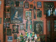 Wall of Mexican retablos & exvotos