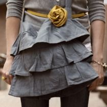 Love the ruffles on this tote.