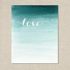 Bible Verse Art Print / Luke 10.27 / Love the Lord your God