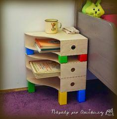 Ötletes Blog: Ikea Hack: Irattartókból éjjeli szekrényke