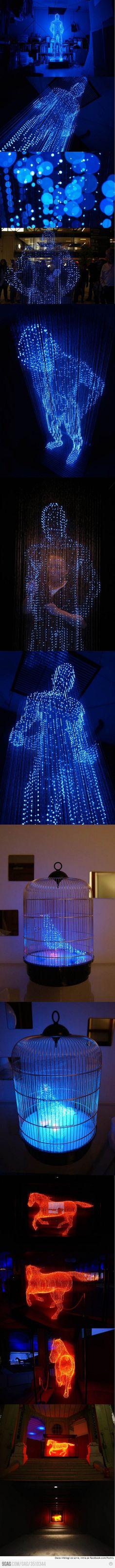 Incredible light statues by Makoto Tojiki