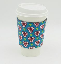 Fabric Coffee Cup Cosy, Reusable Reversible Cup Sleeve £5.00