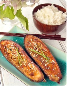 aubergines laquées au miso