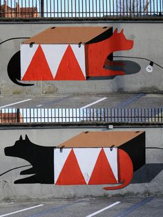 Shit We're Diggin': Murals by Agostino Iacurci | Wooster Collective
