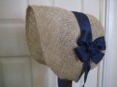 Regency/Victorian Straw Bonnet. Jane Austen. Civil War. 1840's, 1850's Handmade with Navy Trim. BY REGENCY REGALIA - ETSY